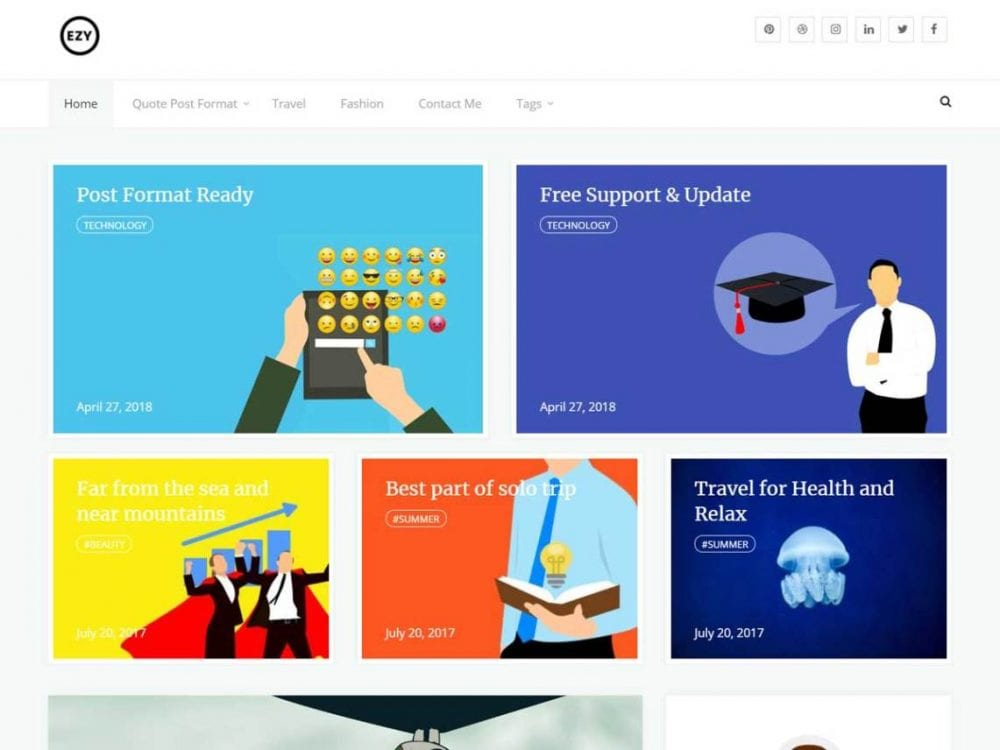 Free Ezy WordPress theme