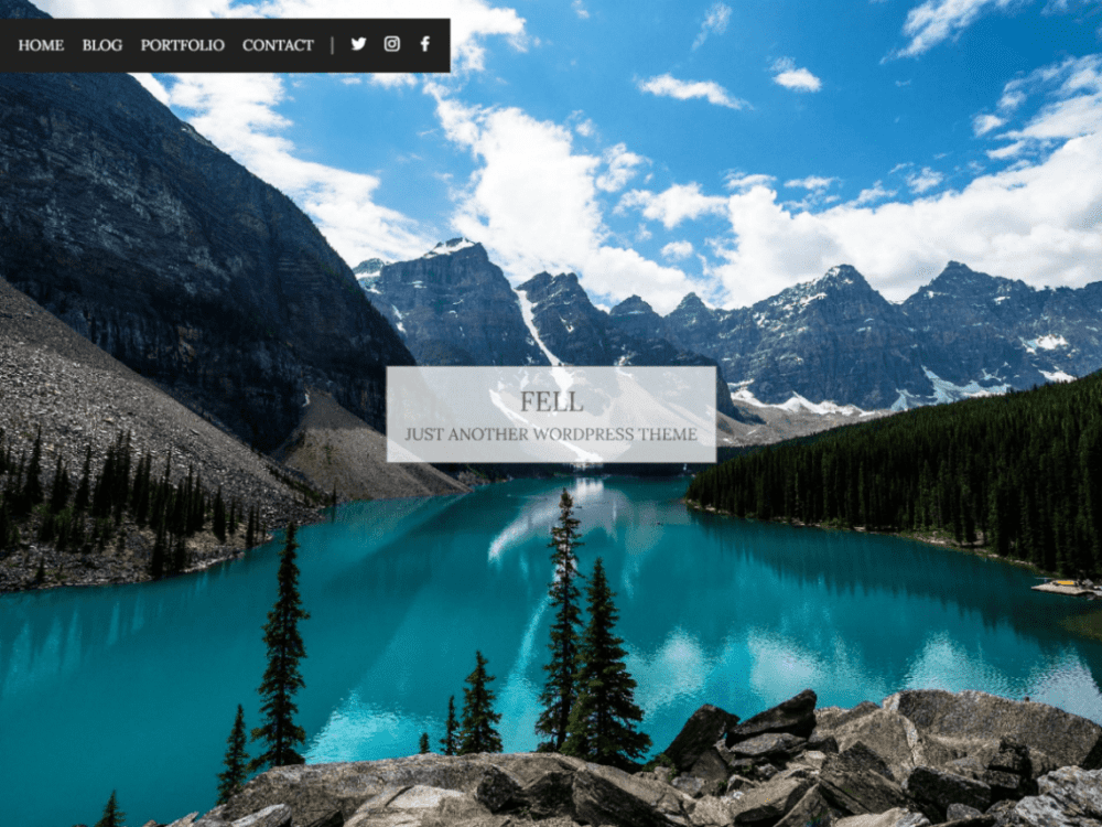 Free Fell WordPress theme