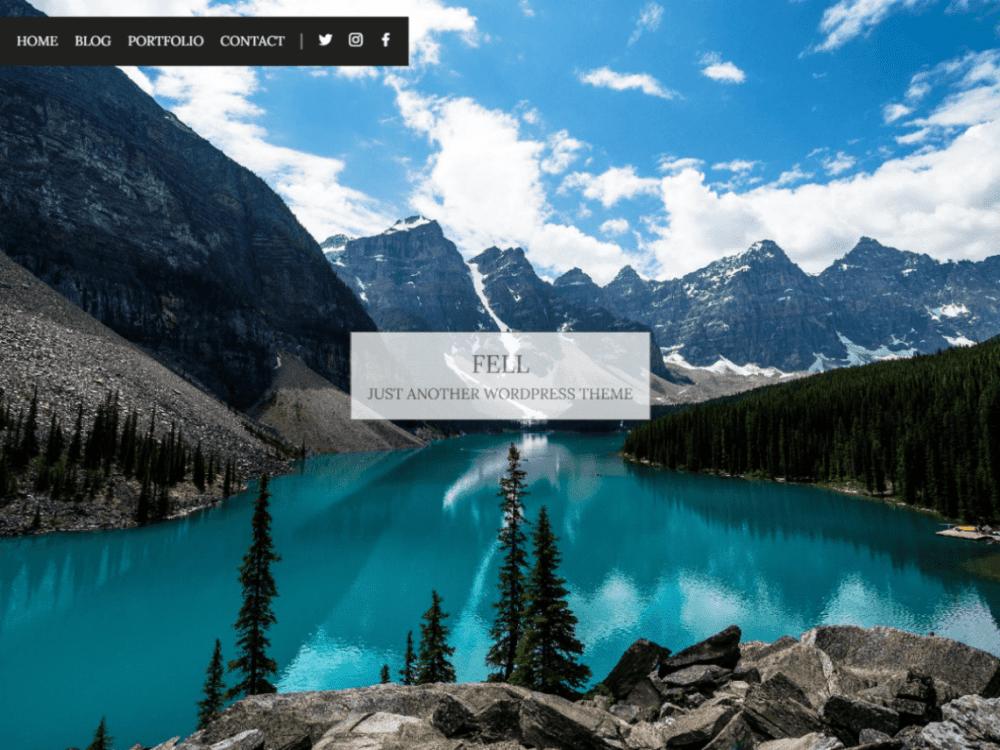 Free Fell WordPress theme