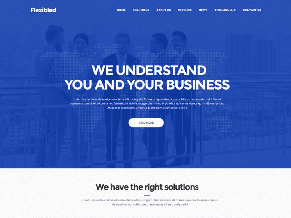 Free Flexibled WordPress theme