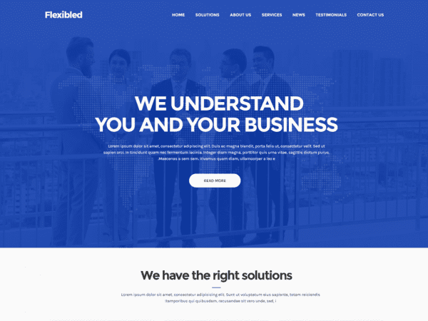 Free Flexibled WordPress theme