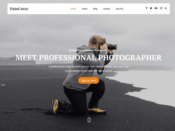 Free Fotocover WordPress theme