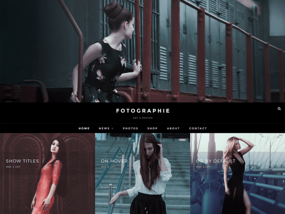 Free Fotografie WordPress theme