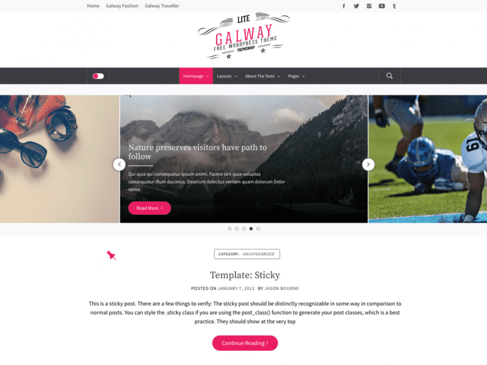 Free Galway Lite WordPress theme
