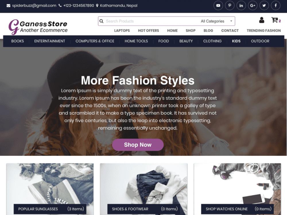 Free Ganess Store WordPress theme