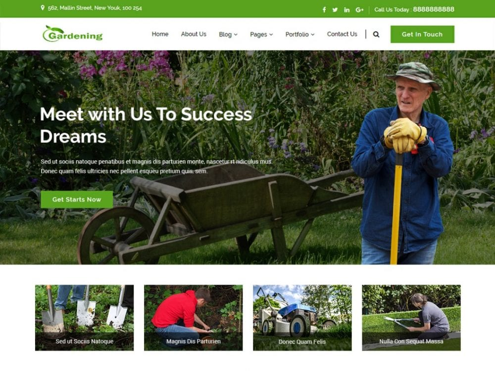 Free Gardenings WordPress theme