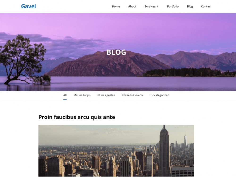 Free Gavel WordPress theme