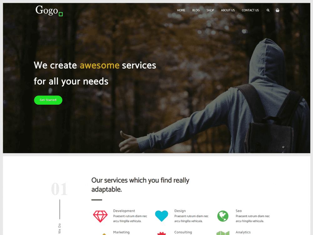 Free Gogo WordPress theme