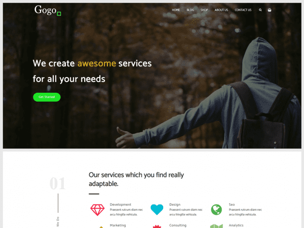 Free Gogo WordPress theme
