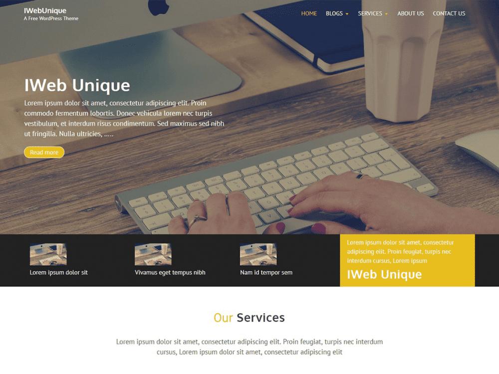 Free IWebUnique WordPress theme