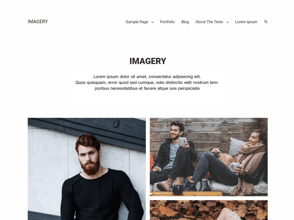 Free Imagery WordPress theme