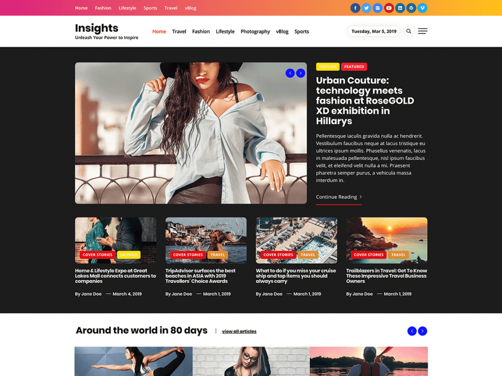 Free Insights WordPress theme