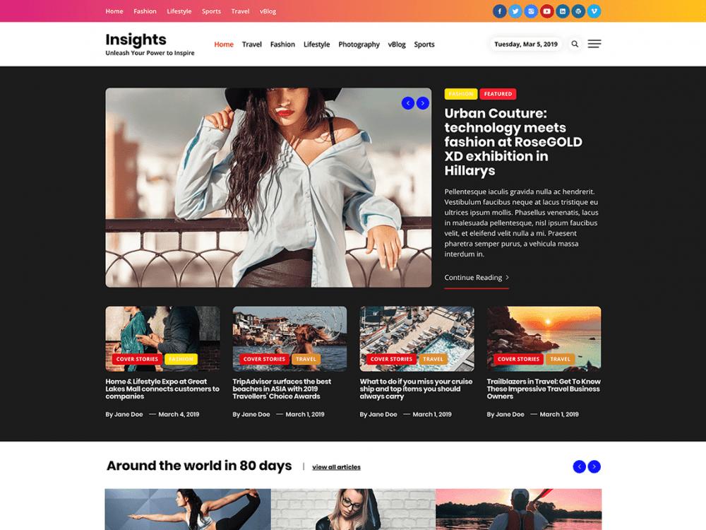 Free Insights WordPress theme