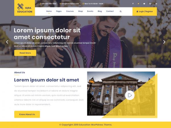 Free Iqra Education Wordpress theme