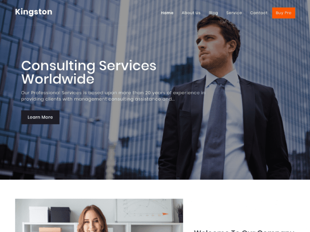 Free Kingston WordPress theme
