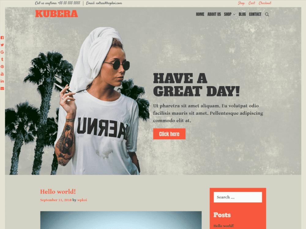 Free Kubera WordPress theme