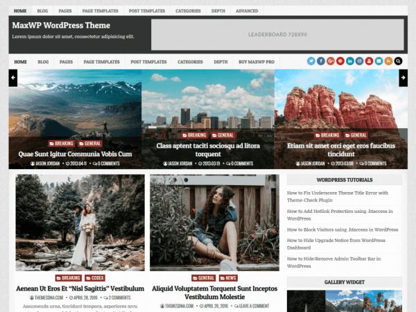 Free MaxWP WordPress theme