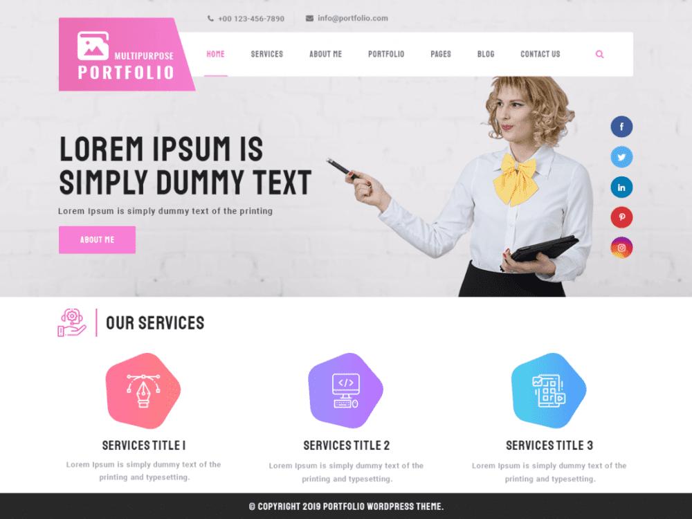 Free Multipurpose Portfolio WordPress theme