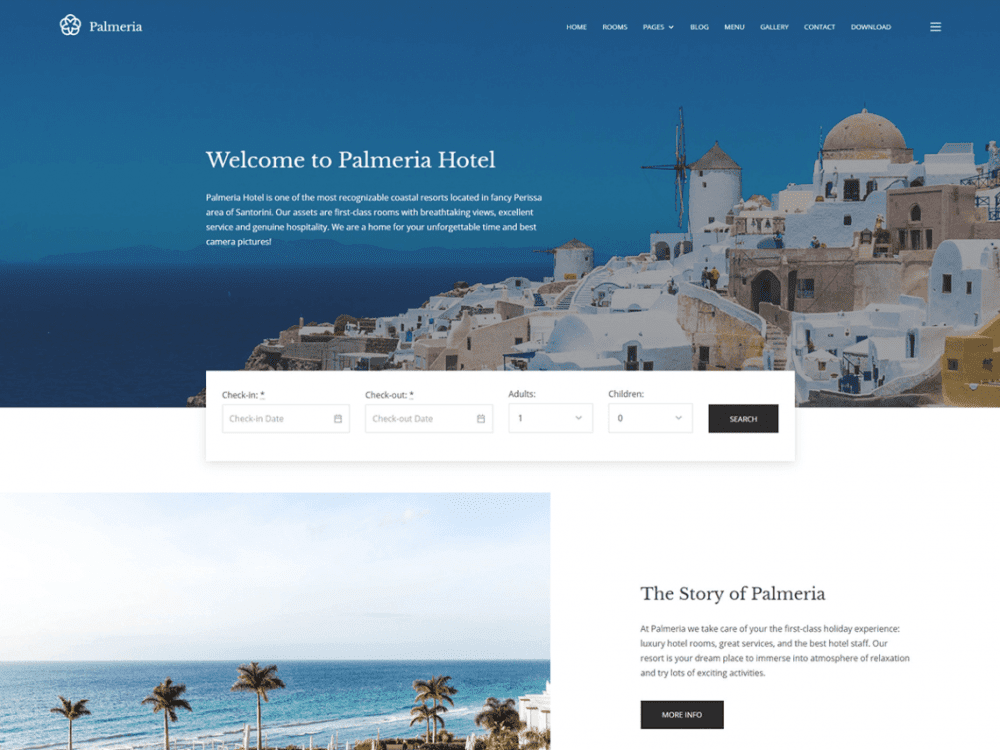 Free Palmeria WordPress theme
