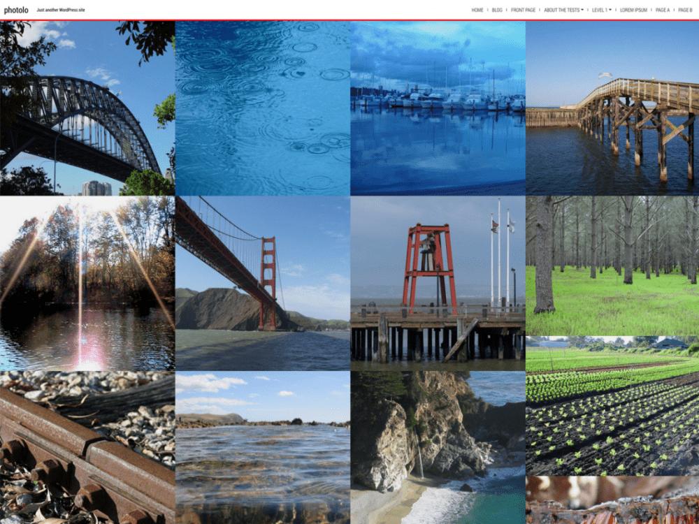 Free Photolo WordPress theme