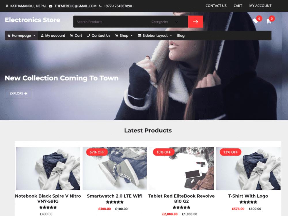 Free Relic Fashion Store WordPress theme