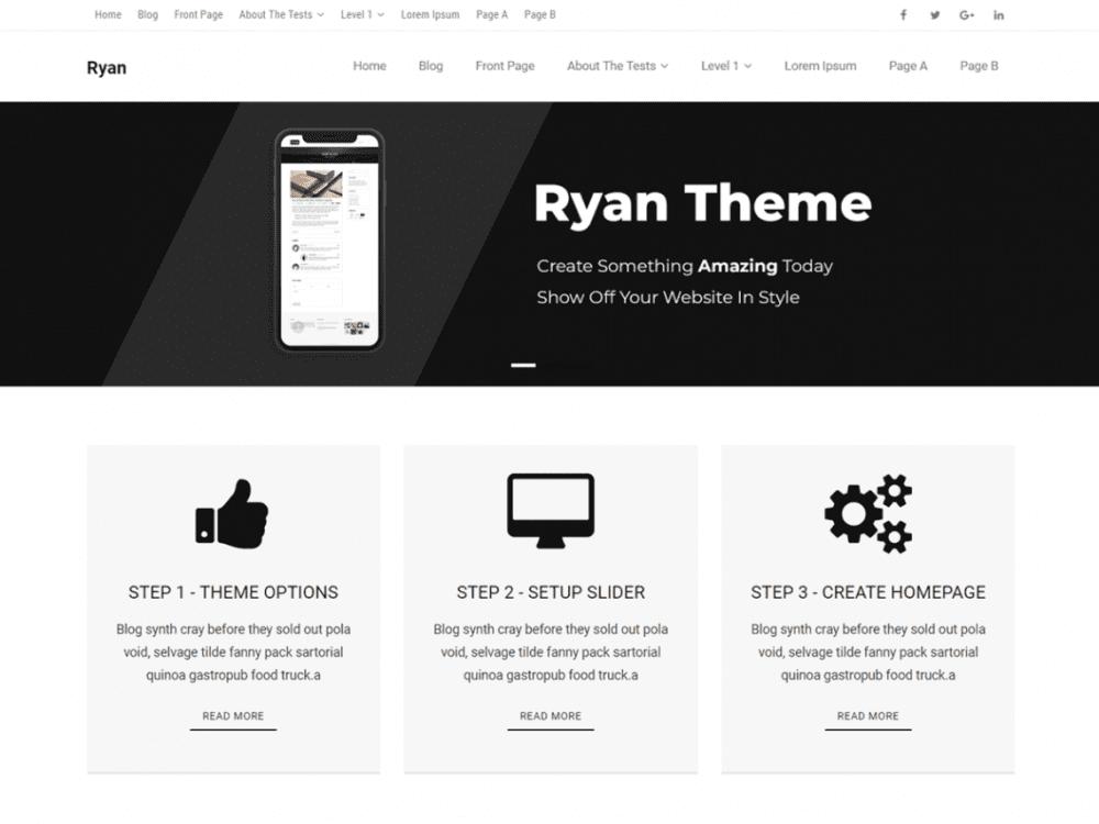 Free Ryan Magazine WordPress theme