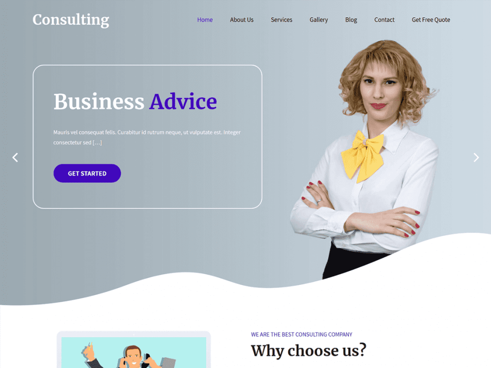 Free SKT Consulting WordPress theme