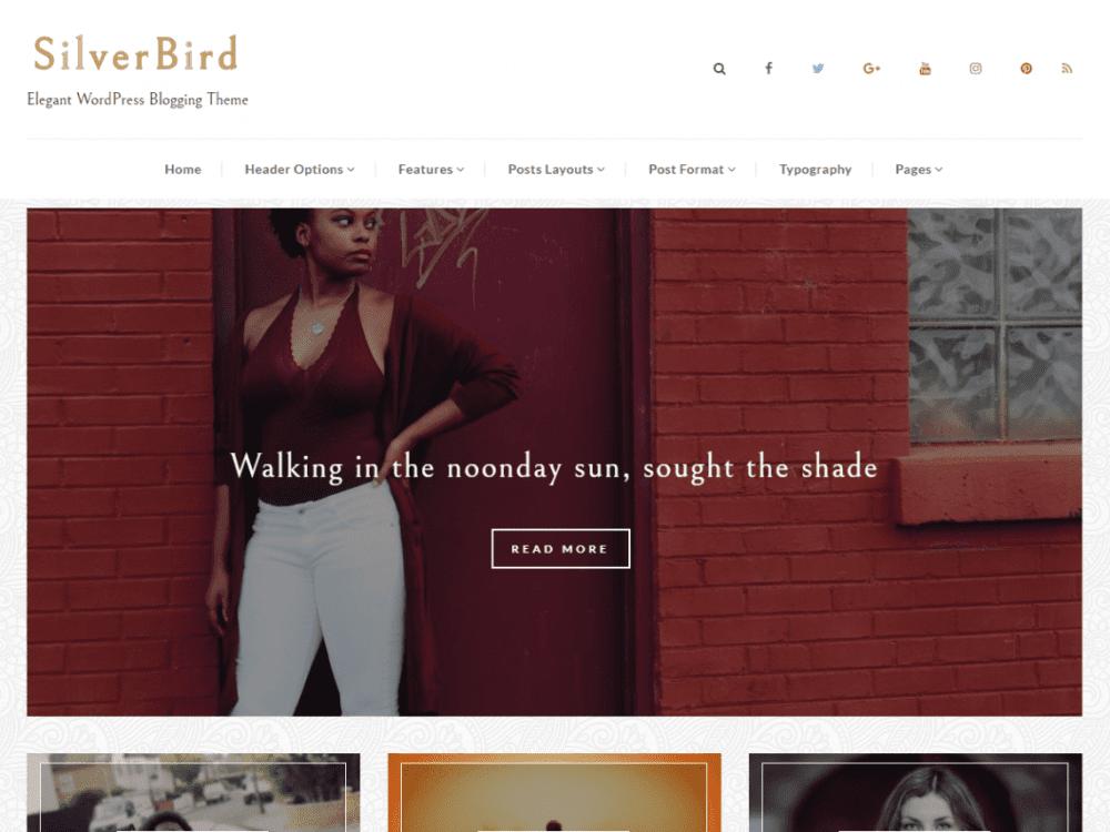 Free SilverBird WordPress theme