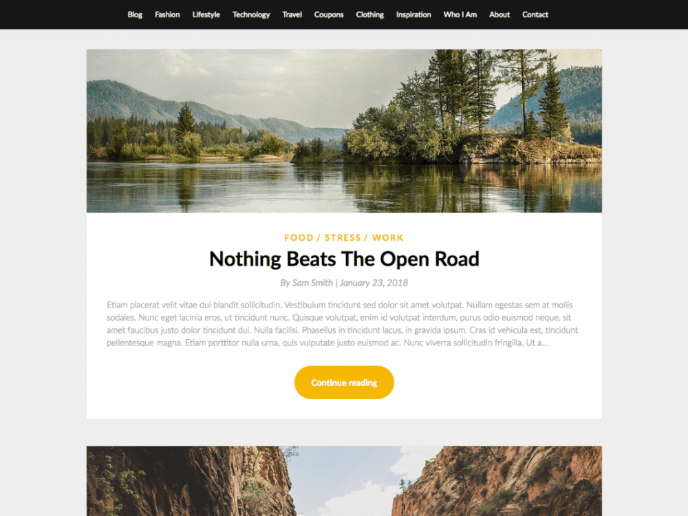 Free SimpleBlogily WordPress theme