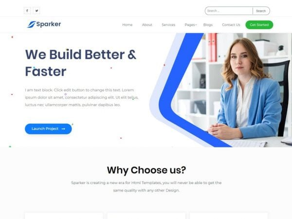 Free Sparker WordPress theme