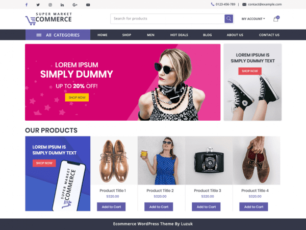 Free Supermarket Ecommerce WordPress theme