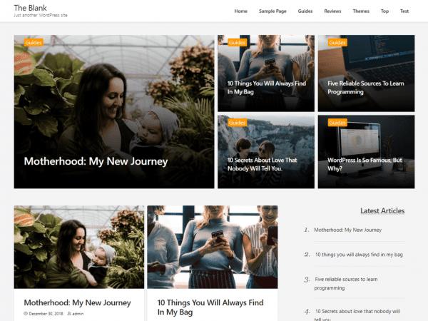 Free The Blank WordPress plugin