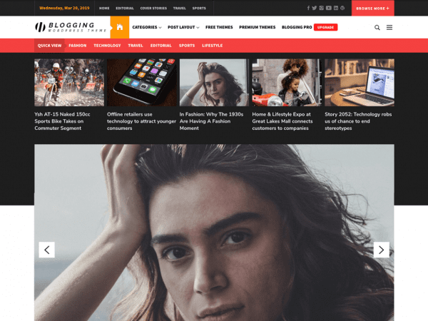Free The Blogging WordPress theme