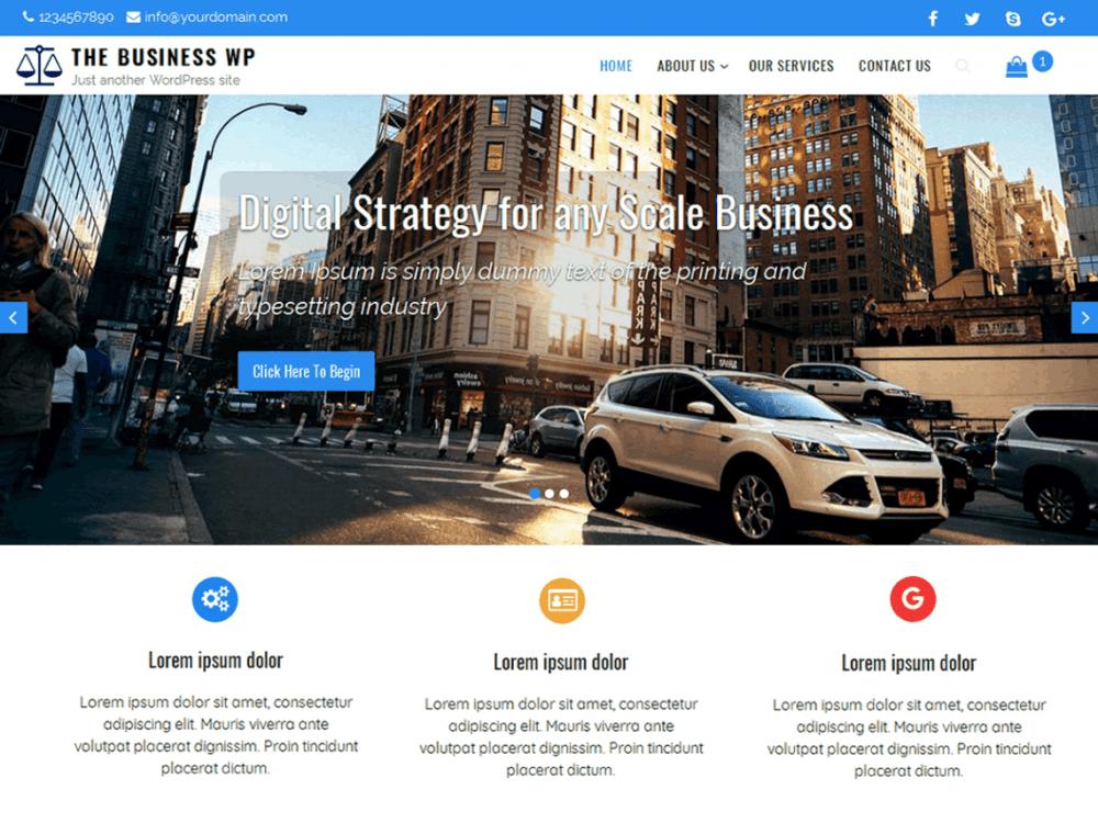Free The Business WP WordPress theme