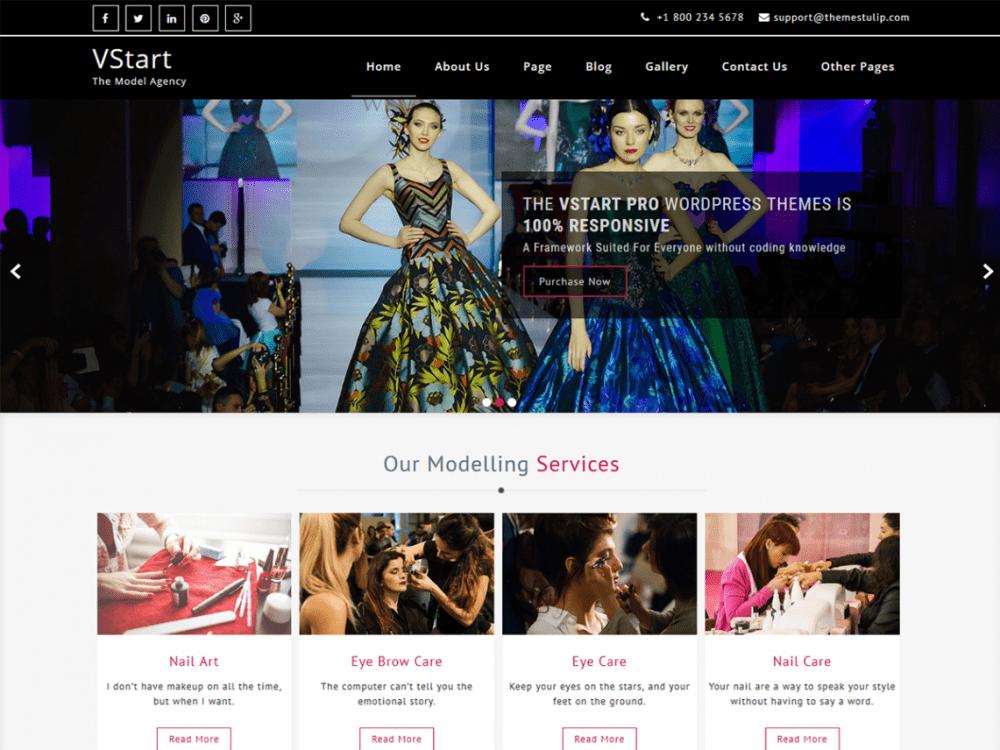 Free VStart WordPress theme