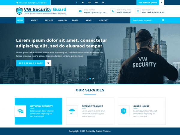 Free VW Security Guard WordPress theme