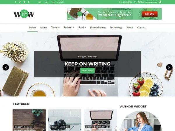 Free WOW Blog WordPress theme