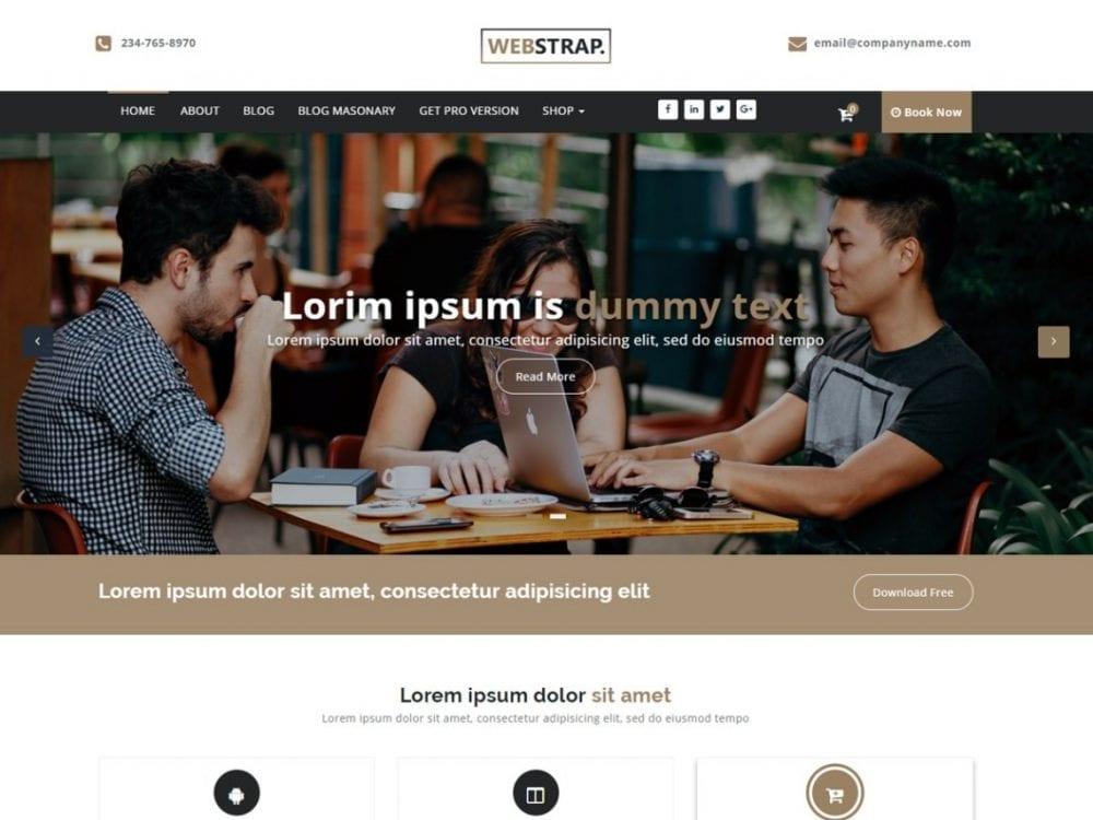 Free Webstrap WordPress theme
