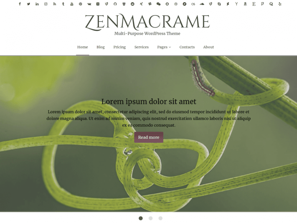 Free ZenMacrame WordPress theme