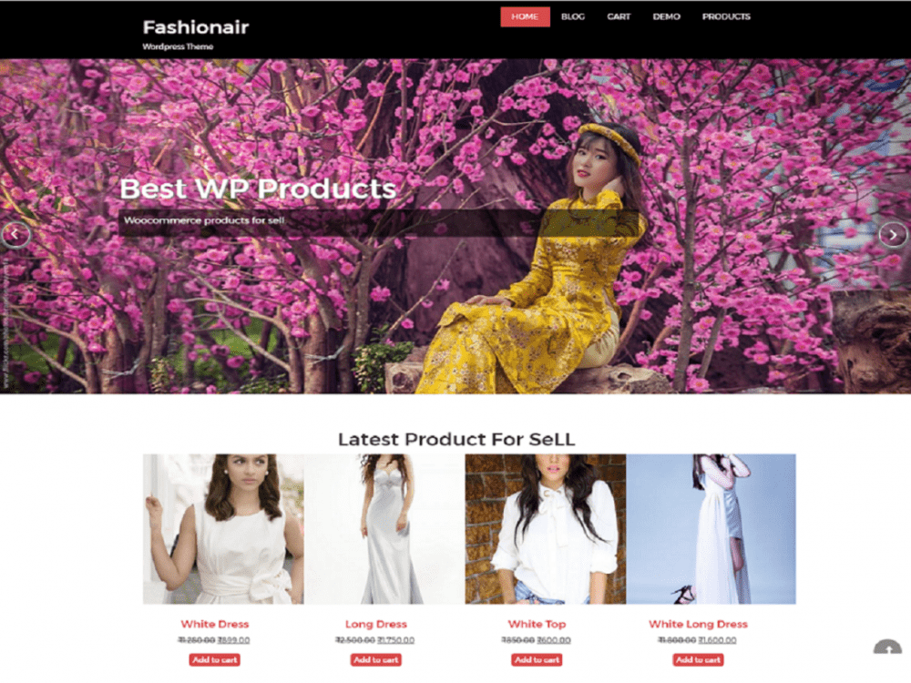 Free fashionair WordPress theme