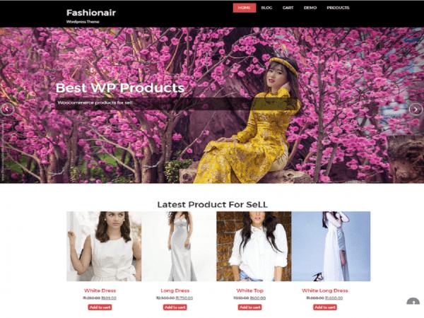 Free fashionair WordPress theme