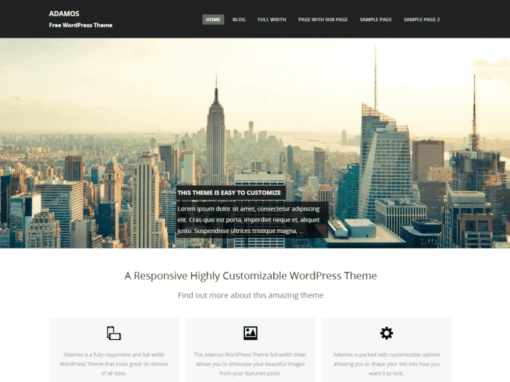 Free Adamos WordPress theme