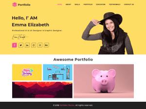 Free Advance Portfolio WordPress theme