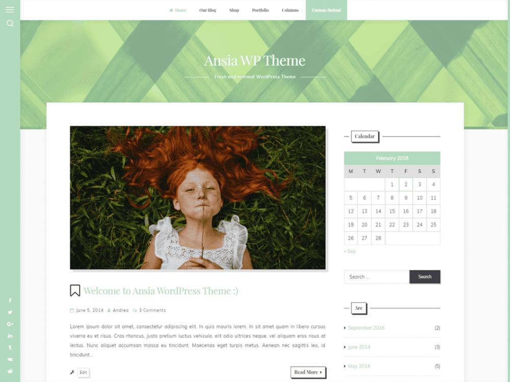 Free Ansia WordPress theme