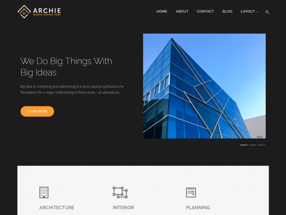 Free Archie WordPress theme