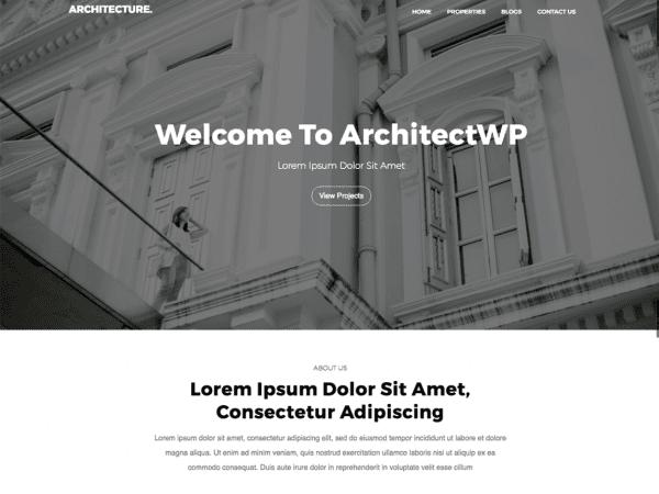 Free Architectwp WordPress theme