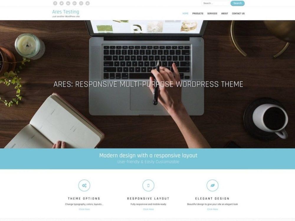 Free Ares WordPress theme