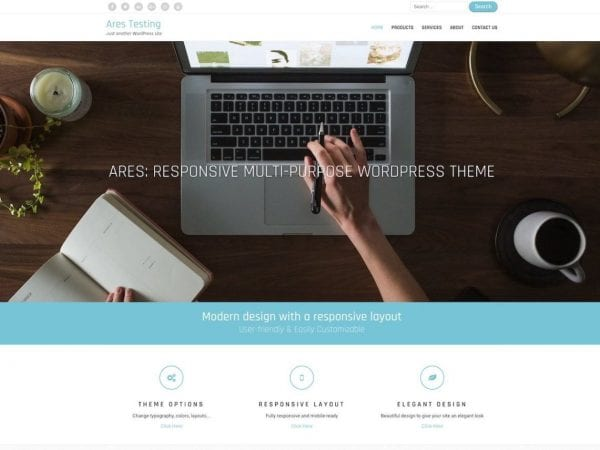 Free Ares WordPress theme