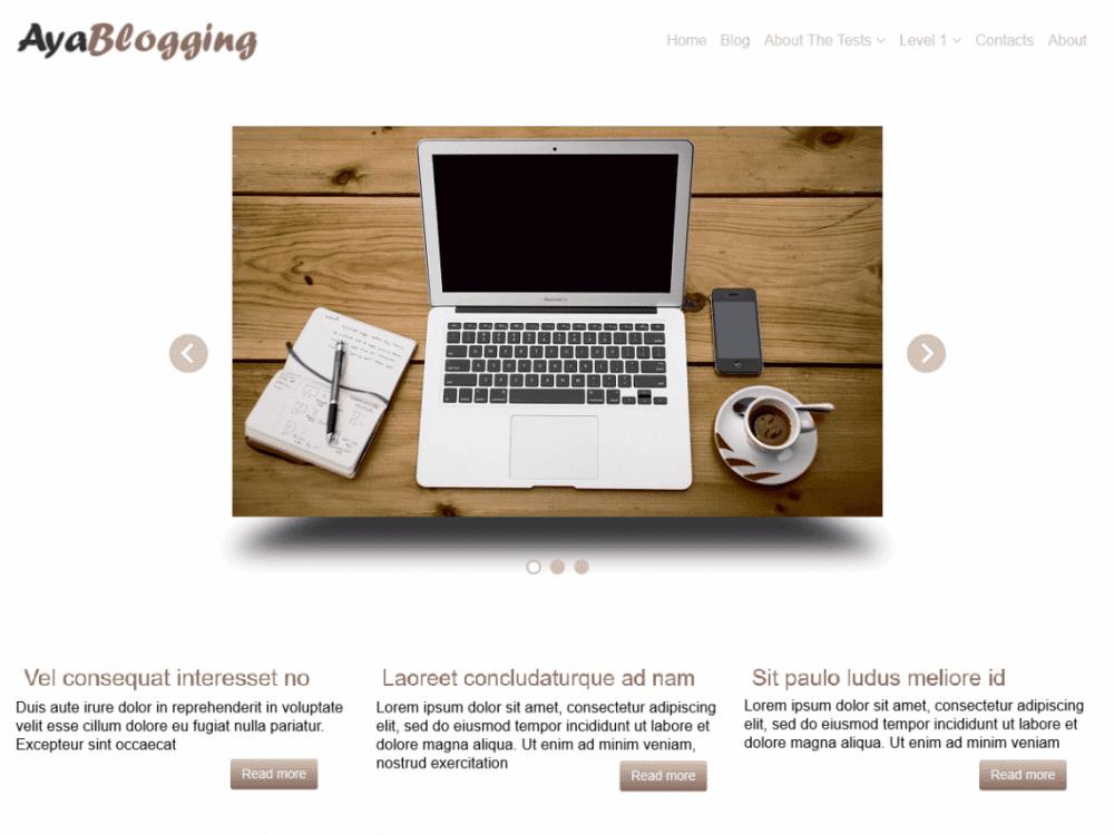 Free AyaBlogging WordPress theme