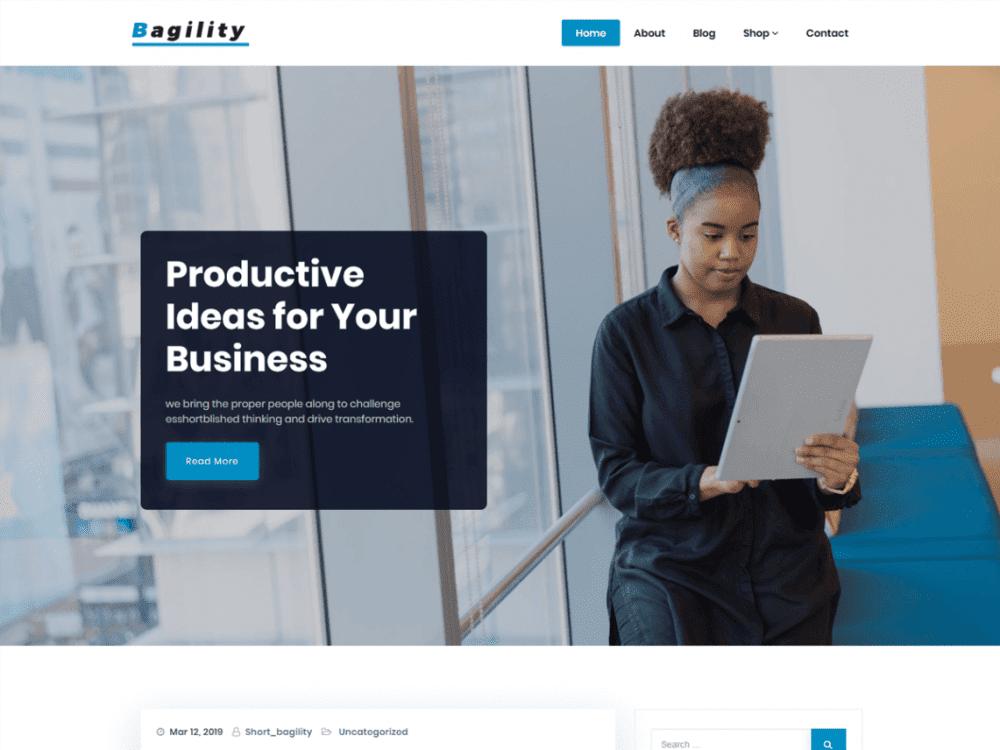Free Bagility WordPress theme